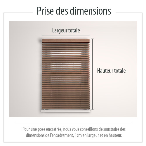 dimension du store venitien